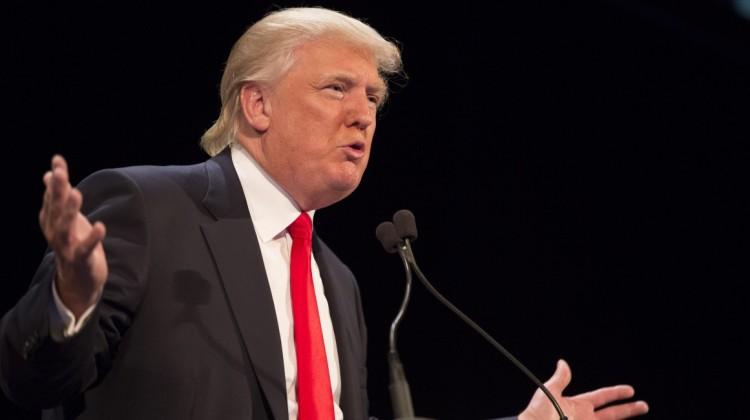 Donald Trump Detractors Demonstrate in New York City